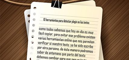 10 herramientas para detectar plagio en los textos