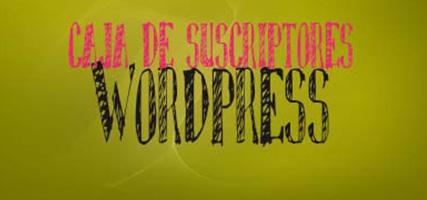 Caja Suscriptores Popup para WordPress